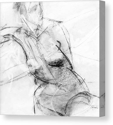 Female Figure Drawings Canvas Prints