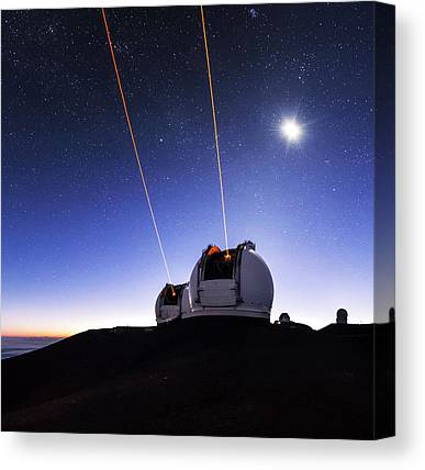 Keck Telescope Canvas Prints