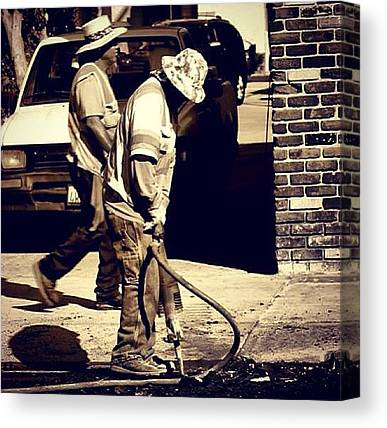 Jackhammers Canvas Prints
