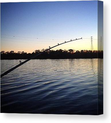 Fishing Poles Canvas Prints