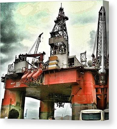 Oil Rigs Canvas Prints