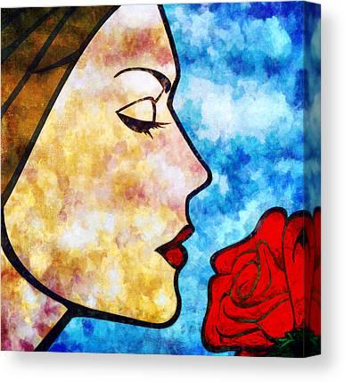 Girl Face Canvas Prints