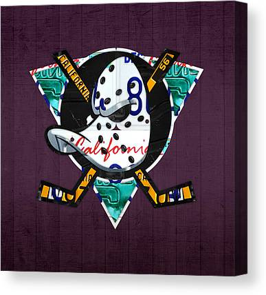Anaheim Ducks Canvas Prints