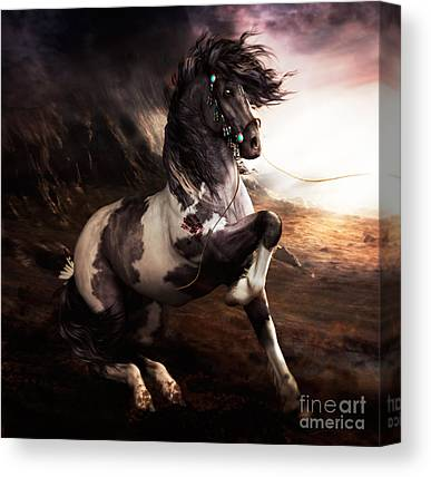 Pony Digital Art Canvas Prints