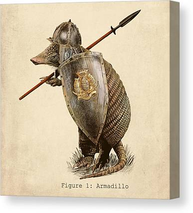 Armor Drawings Canvas Prints
