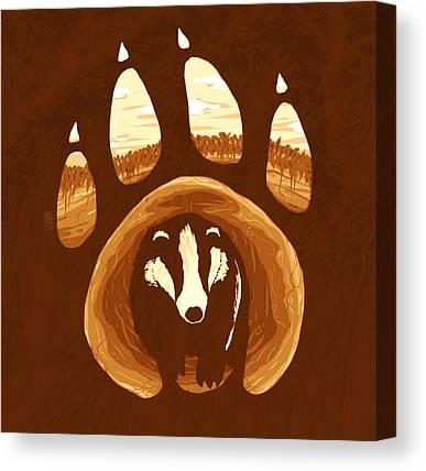 Badger Canvas Prints