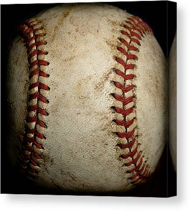 Baseball Close Up Canvas Prints