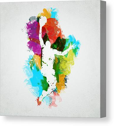 Basketball Mixed Media Canvas Prints
