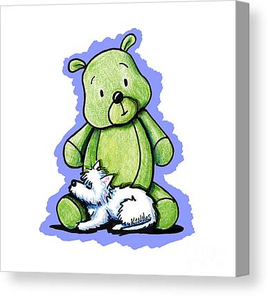 Teddybear Canvas Prints