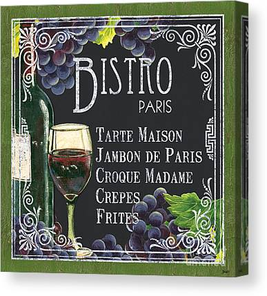 French Cafe Canvas Prints
