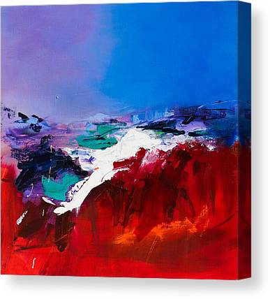 Red Abstract Paintings Canvas Prints