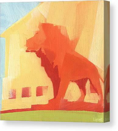 Lion Statue Canvas Prints