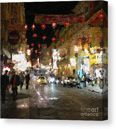 China Town Canvas Prints