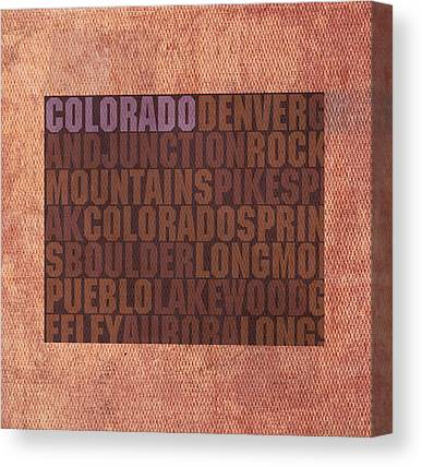 Pueblo Mixed Media Canvas Prints