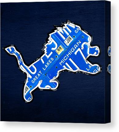 Detroit Lions Canvas Prints