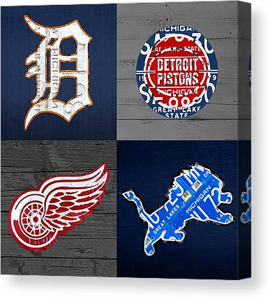 Detroit Canvas Prints