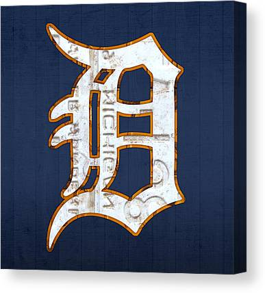Baseball Mixed Media Canvas Prints