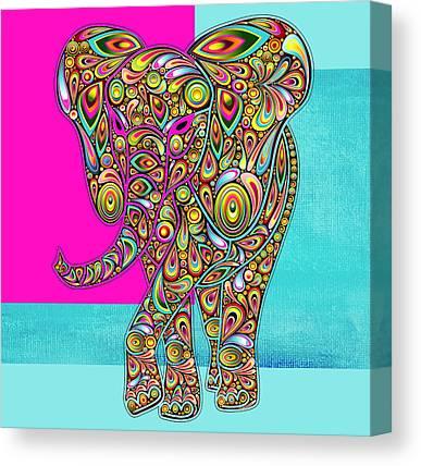 Fushia Digital Art Canvas Prints