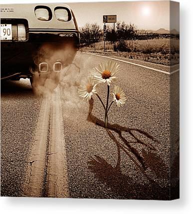 Exhaust Mixed Media Canvas Prints