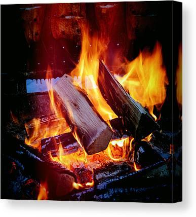 Flames Canvas Prints