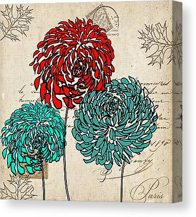 Floral Fabric Canvas Prints