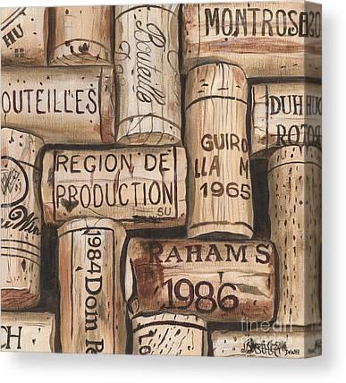 Wine Barrels Canvas Prints