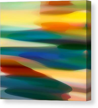 Abstract Digital Paintings Canvas Prints