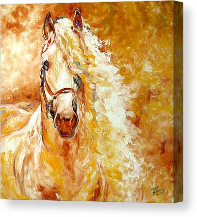 Palomino Horse Canvas Prints