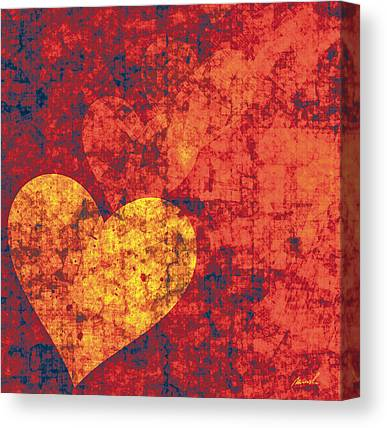 Valentines Day Digital Art Canvas Prints