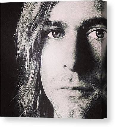 Kurt Cobain Canvas Prints
