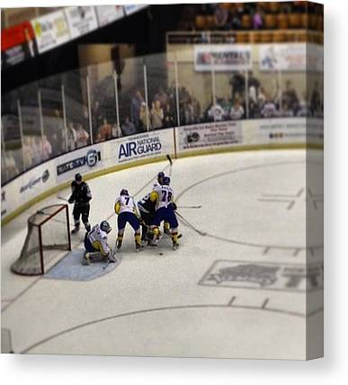 Hockey Players Canvas Prints