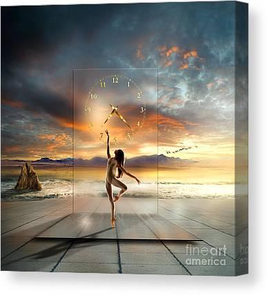 Sun Rays Mixed Media Canvas Prints