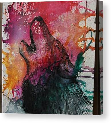 Howling Wolves Canvas Prints