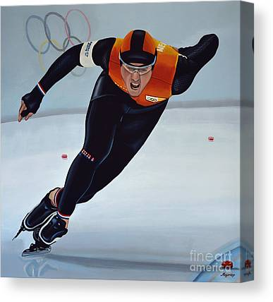 Speed Skating Canvas Prints