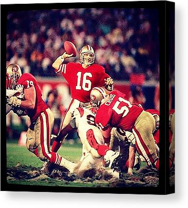 Joe Montana Canvas Prints