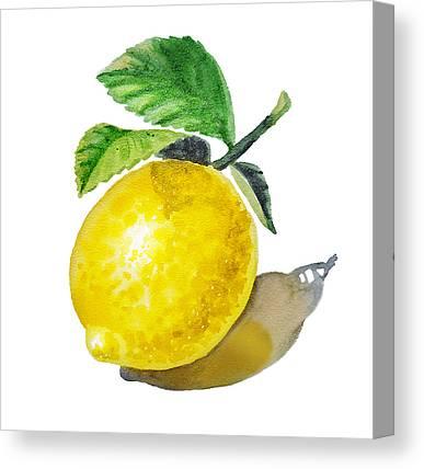 Lemon Art Canvas Prints