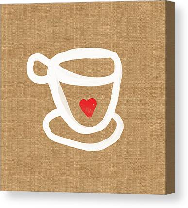Tea Set Canvas Prints