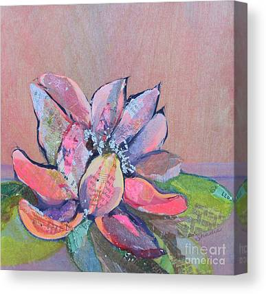Pink Water Lily Canvas Prints