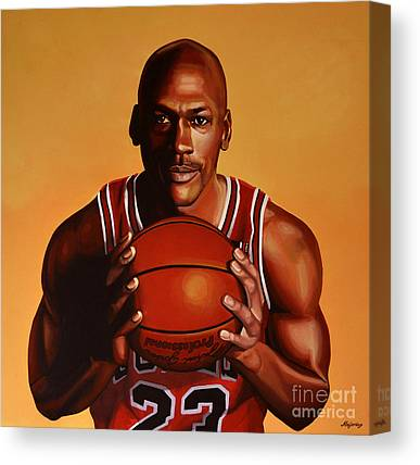American Basketball Player Canvas Prints