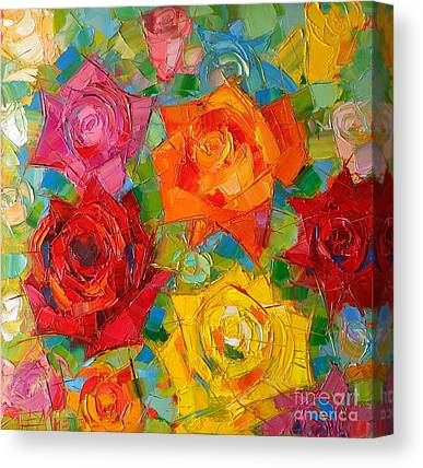 Abstract Rose Abstract Canvas Prints