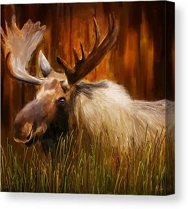 Cabin Wall Paintings Canvas Prints
