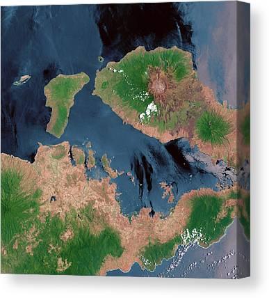 Mount Tambora Canvas Prints