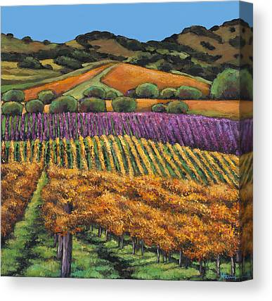 Wine Scene Canvas Prints