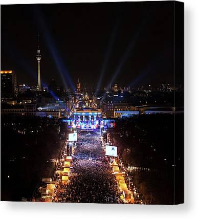 Berlin At Night Canvas Prints