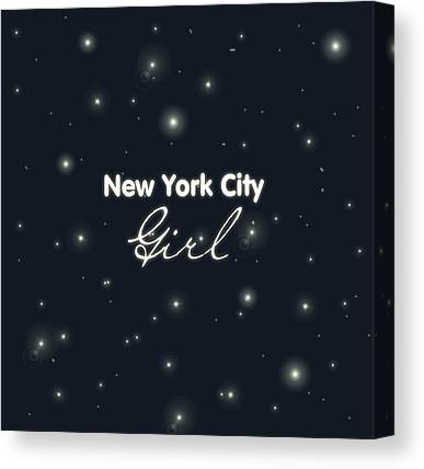Broadway Digital Art Canvas Prints