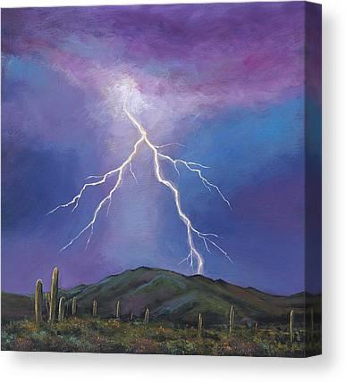 Phoenix Lightning Canvas Prints