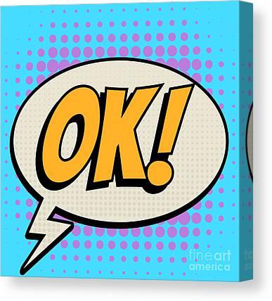 Ok Digital Art Canvas Prints