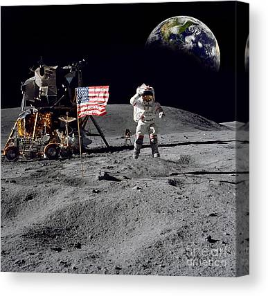 Neil Armstrong Canvas Prints