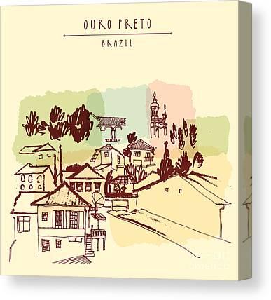 Minas Gerais Canvas Prints