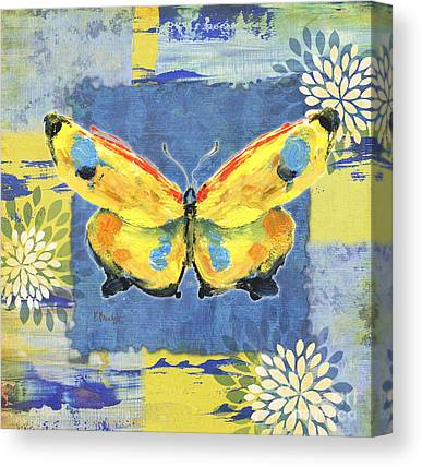 Butterflies. Collage Paintings Canvas Prints